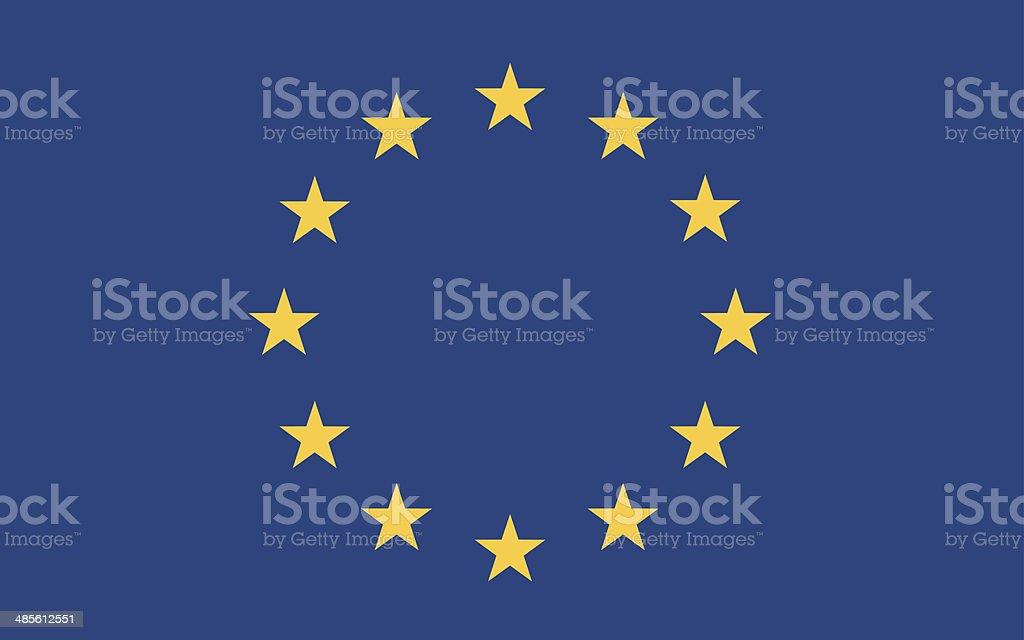 Bandera europea vector - ilustración de arte vectorial