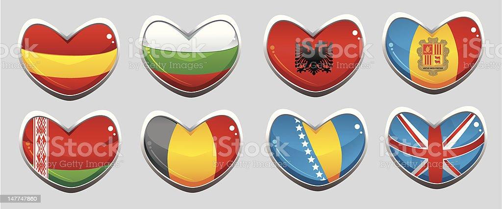 european flags royalty-free stock vector art