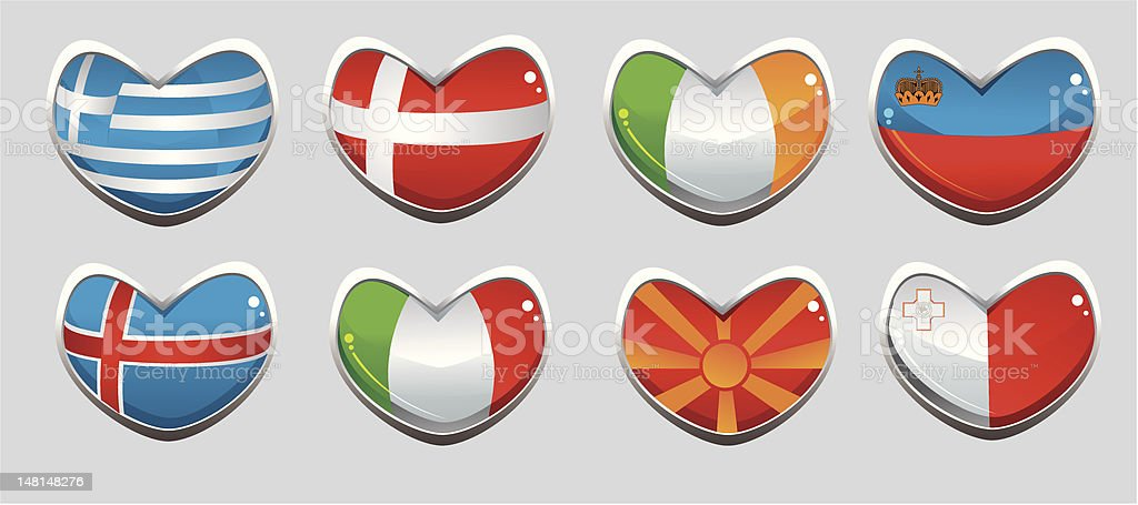 european flags royalty-free stock vector art