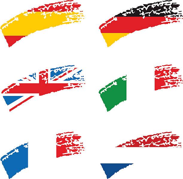 European Flags vector art illustration