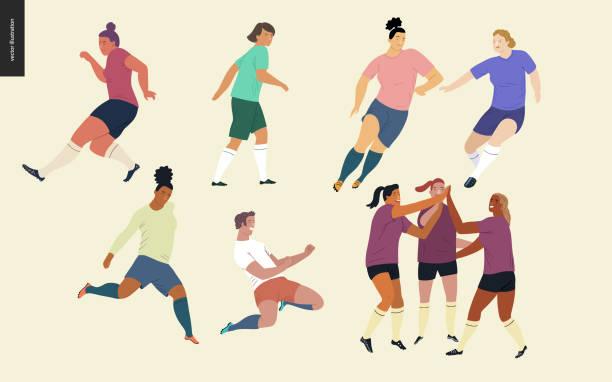 ilustrações, clipart, desenhos animados e ícones de conjunto de jogadores de futebol do futebol europeu, - equipe esportiva