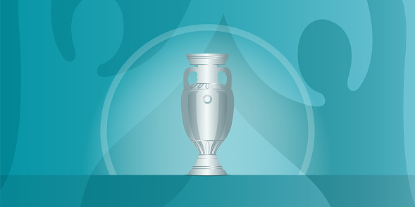 European football tournament Background. Euro 2020 soccer championship concept. Vector illustration EPS 10