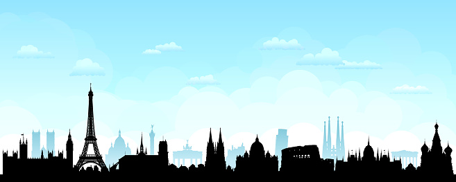European Skyline (All Buildings are Complete and Moveable)
