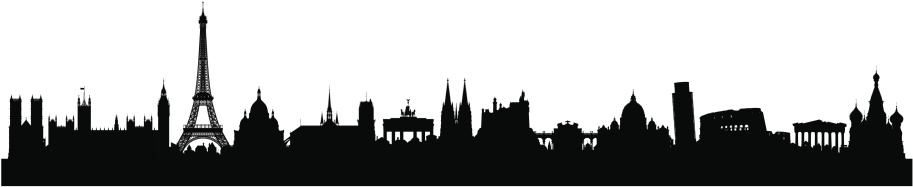 European Skyline (Buildings Are Detailed, Moveable and Complete)