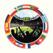 European soccer match