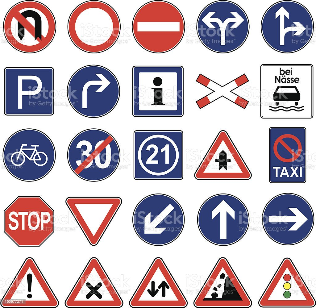 European traffic signs icon set stock vector art more images of european traffic signs icon set royalty free european traffic signs icon set stock vector art buycottarizona Image collections