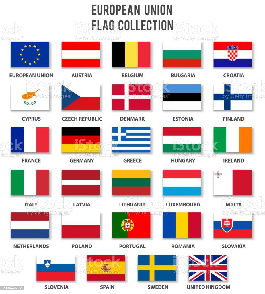 Europäischen Union Flag Collection - komplett – Vektorgrafik