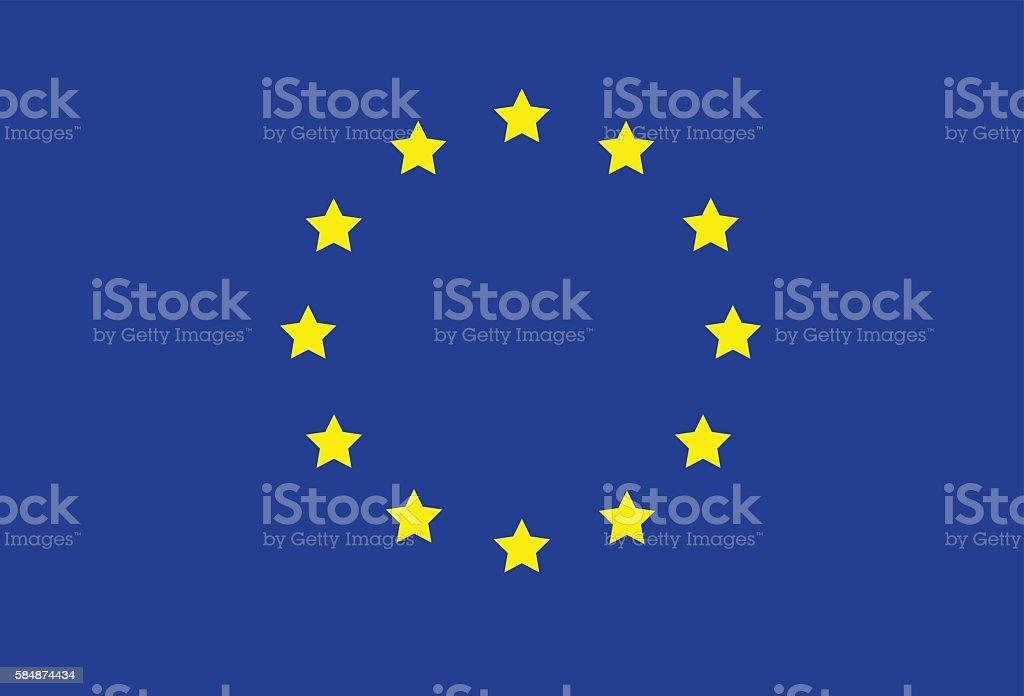European Union Flag Icon Flat Graphic Design vector art illustration