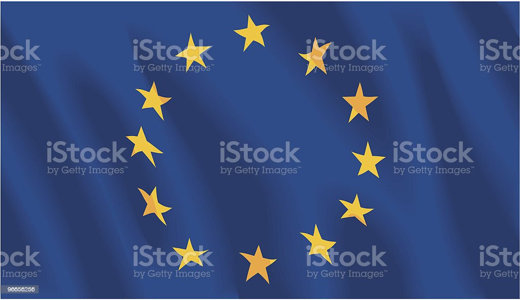 European Union Flag royalty-free stock vector art
