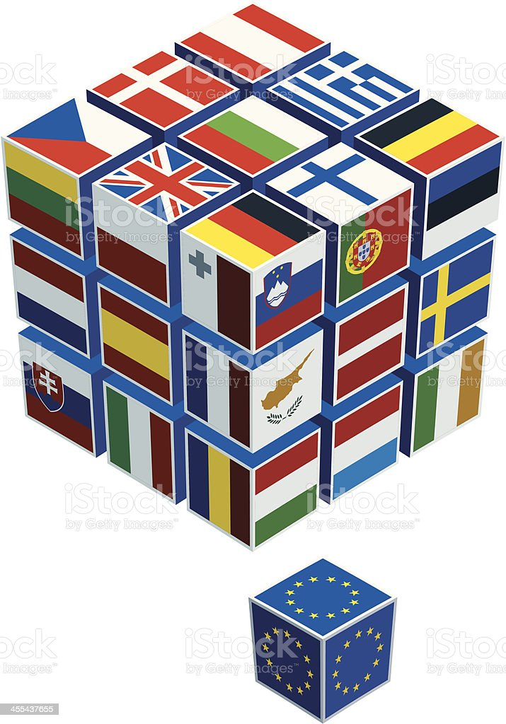 european union flags cubes royalty-free european union flags cubes stock vector art & more images of arts culture and entertainment