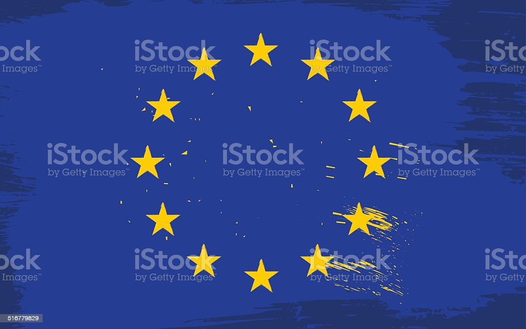 European union grunge flag vector art illustration