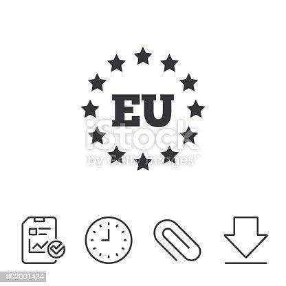 European Union Icon Eu Stars Symbol Stock Vector Art More Images