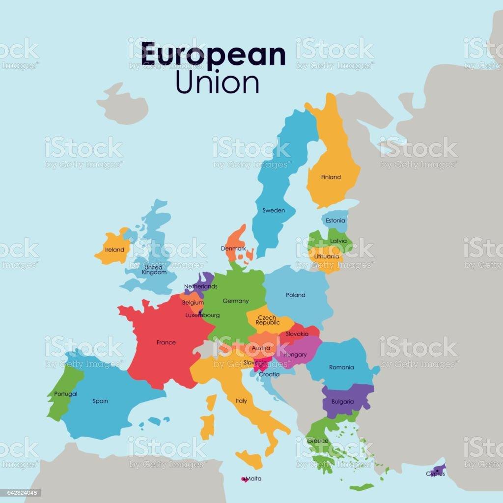 European Union Map Design Stock Illustration - Download ...