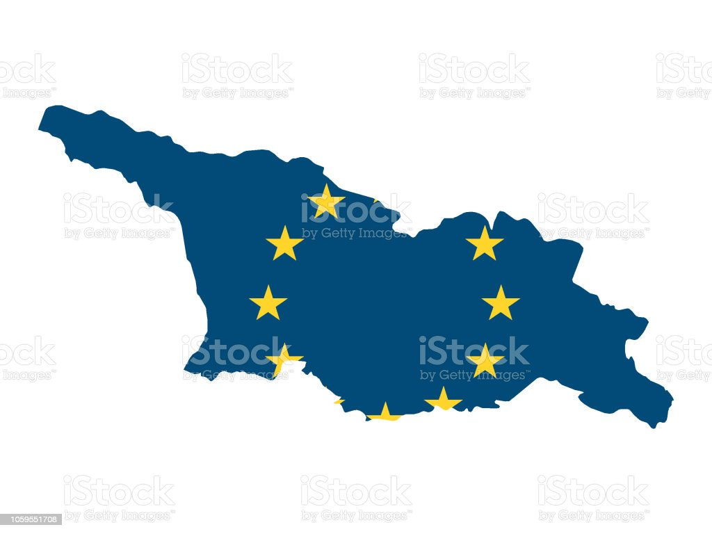 European Union Map Of Georgia Stock Vector Art & More Images