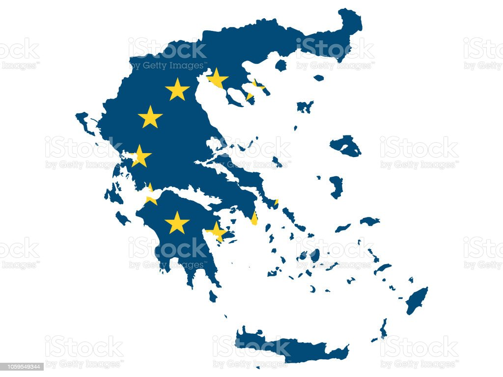 European Union Map Of Greece Stock Illustration - Download Image Now