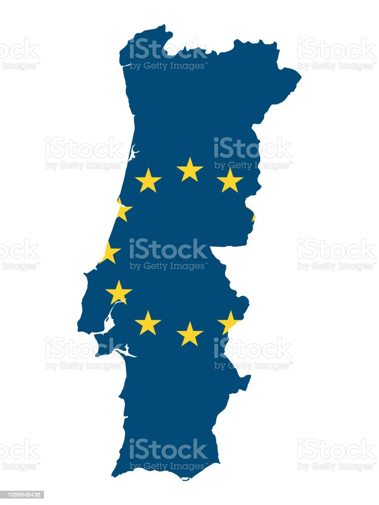 European Union Map Of Portugal Stock Illustration - Download