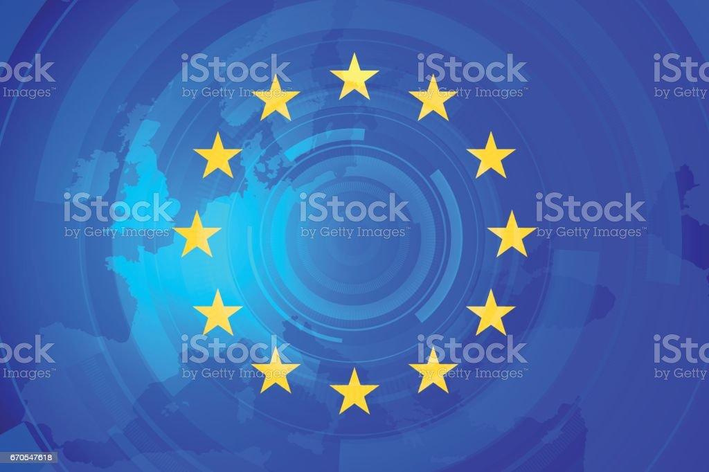 European Union vector art illustration