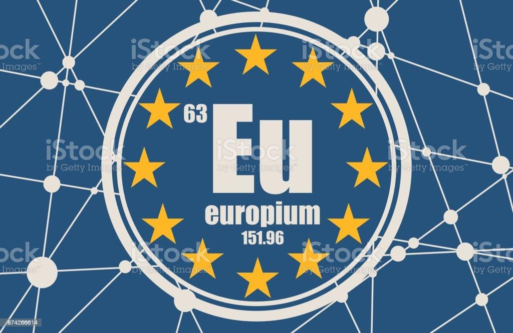 chemisches element europium stock vektor art und mehr bilder von abstrakt 874266614 istock. Black Bedroom Furniture Sets. Home Design Ideas