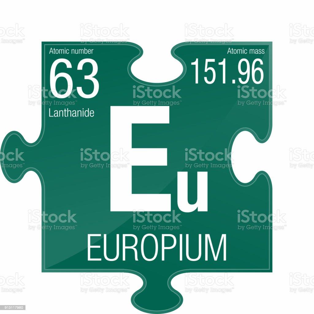 Europium Symbol Element Number 63 Of The Periodic Table Of The