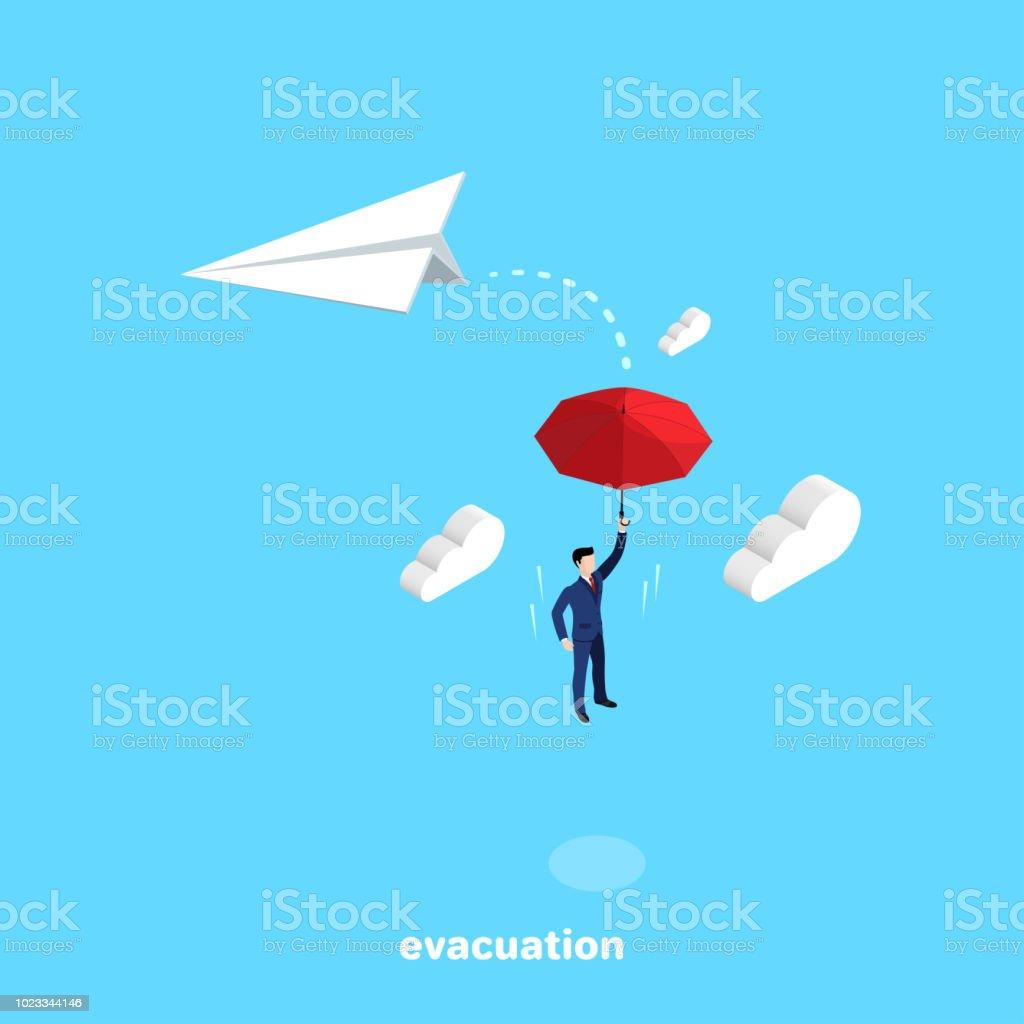 evacuation 3 vector art illustration