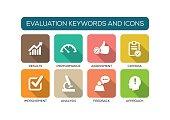 Evaluation Flat Icon Set