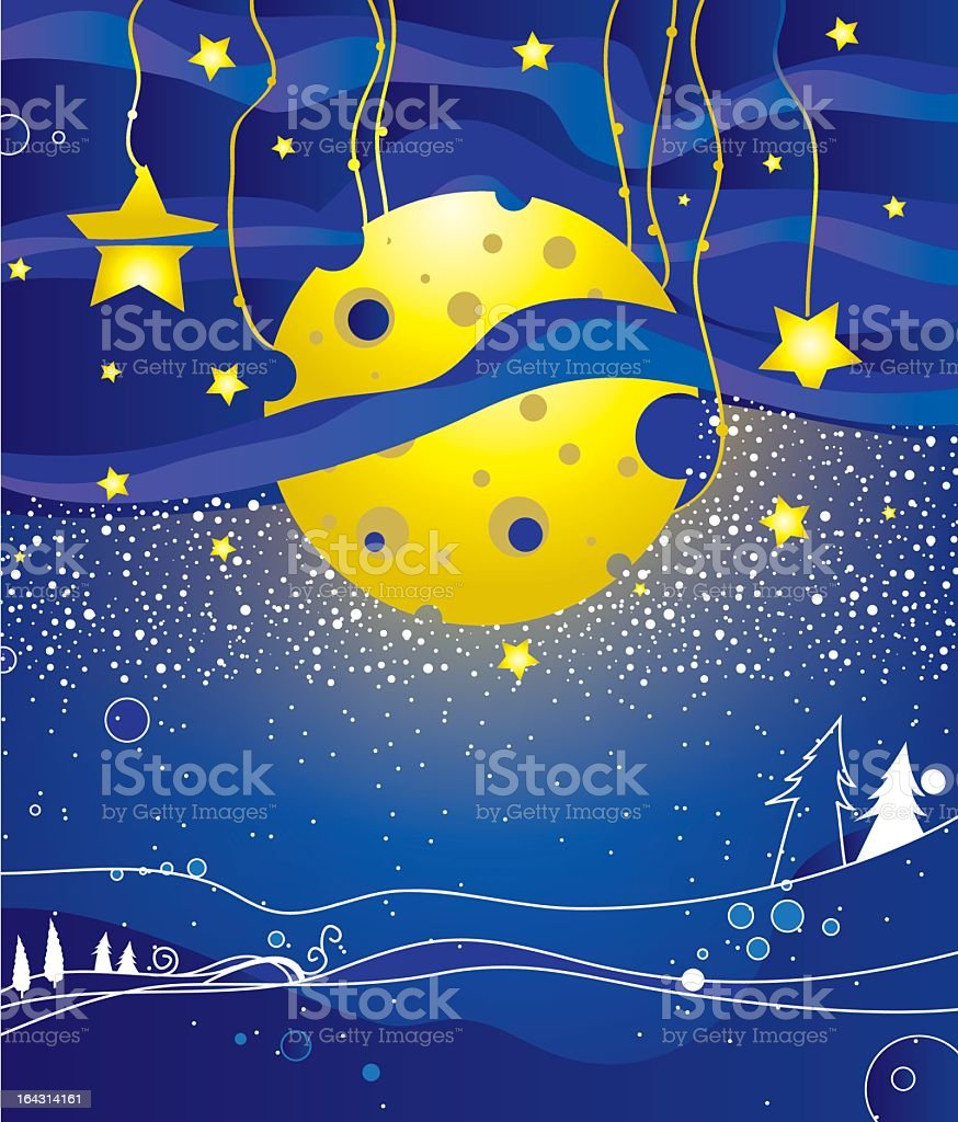 Eve of new year royalty-free stock vector art