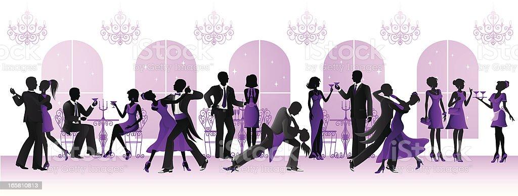 Evening Ball vector art illustration