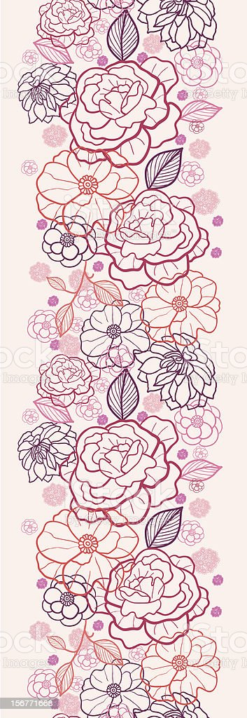 Evening Garden Floral Seamless Vertical Ornament royalty-free evening garden floral seamless vertical ornament stock vector art & more images of beauty in nature