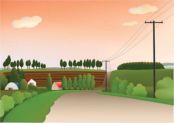 evening hill - electrical wiring home stock illustrations, clip art, cartoons, & icons