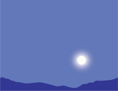 moonrise por la noche