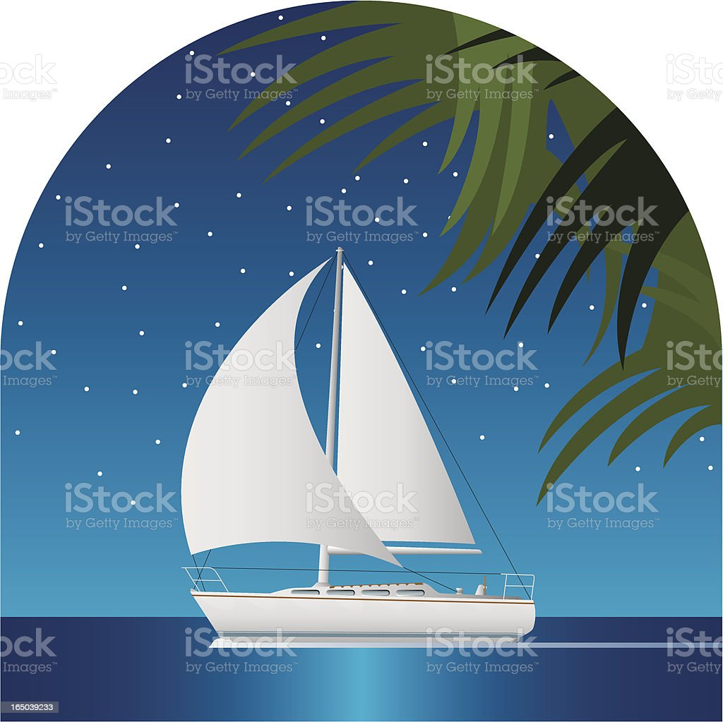 evening sail royalty-free evening sail stock vector art & more images of cruise