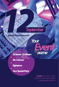 Event flyer graphic design. Eps10 file with transparency.