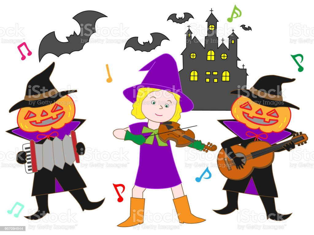 On the day of Halloween, witches, Jack O Lantern, ghosts, zombies,