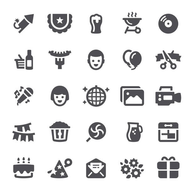 Event Icons vector art illustration