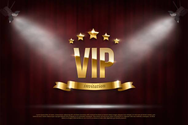 vipイベント招待リアルイラスト - glitter curtain点のイラスト素材/クリップアート素材/マンガ素材/アイコン素材