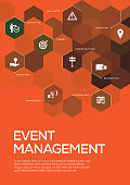 Event Management. Brochure Template Layout, Cover Design
