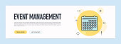Event Management Concept - Flat Line Web Banner