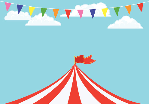 Event Tent and Banner Flags Background