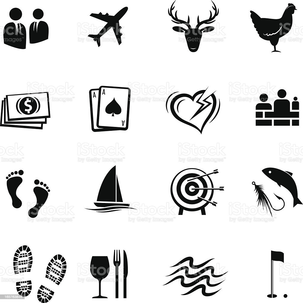 Events and hospitality icons vector art illustration