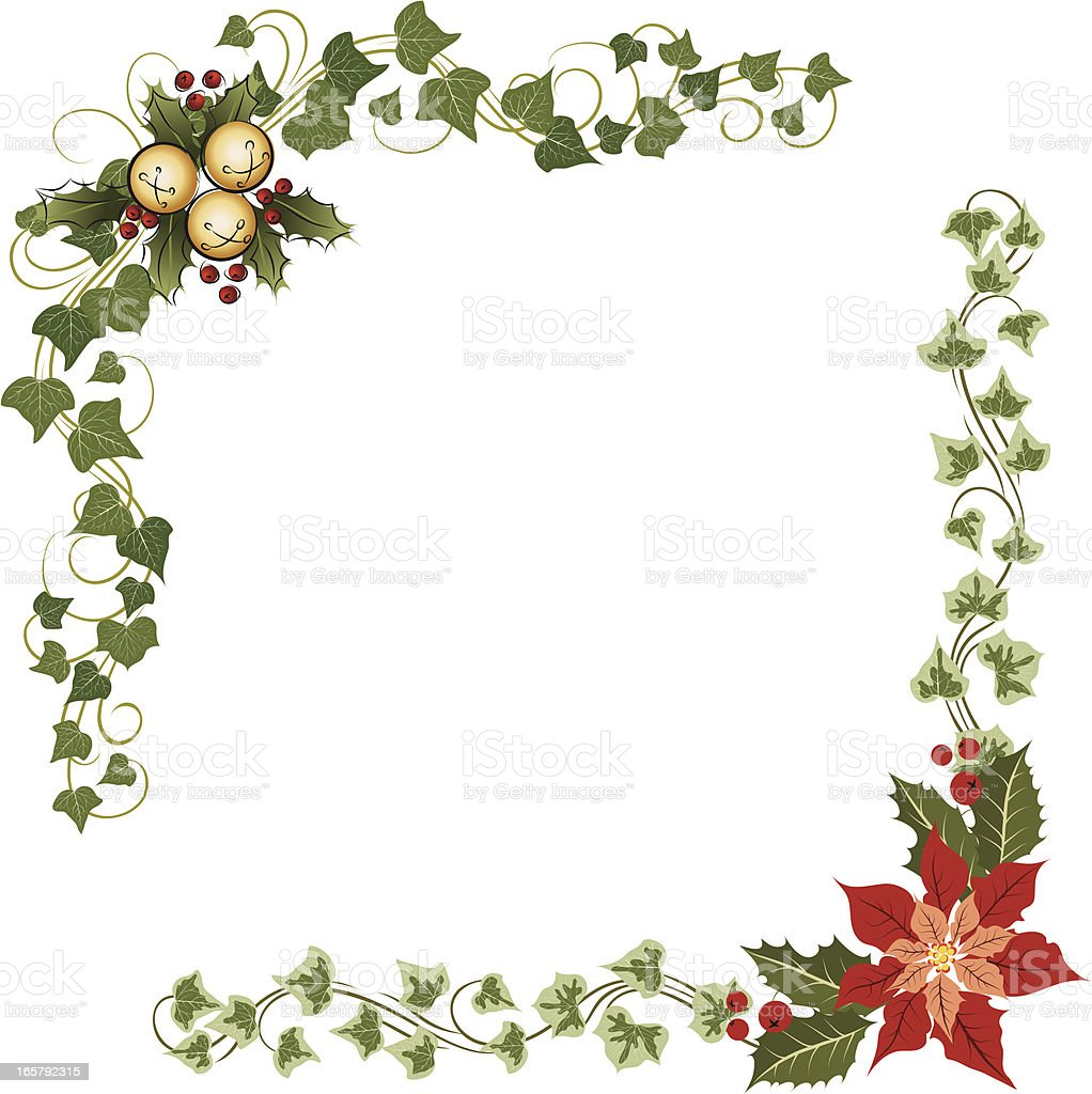 Evergreen christmas decoration royalty-free evergreen christmas decoration stock vector art & more images of art and craft