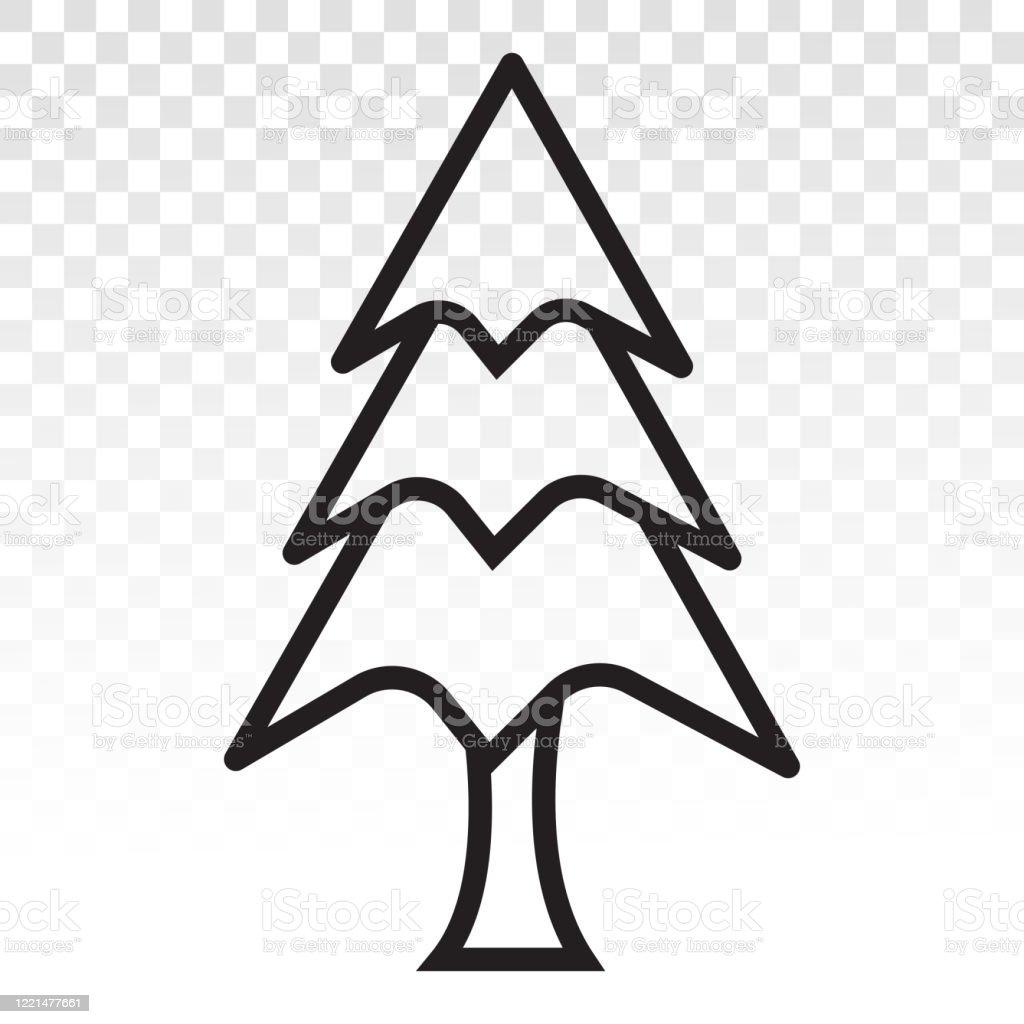 Vintergröna barrträd / tall vektor platt ikon för appar och webbplatser - Royaltyfri Amerikansk sekvoja vektorgrafik
