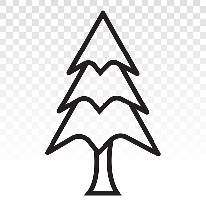 Vintergröna Barrträd Tall Vektor Platt Ikon För Appar Och Webbplatser-vektorgrafik och fler bilder på Amerikansk sekvoja