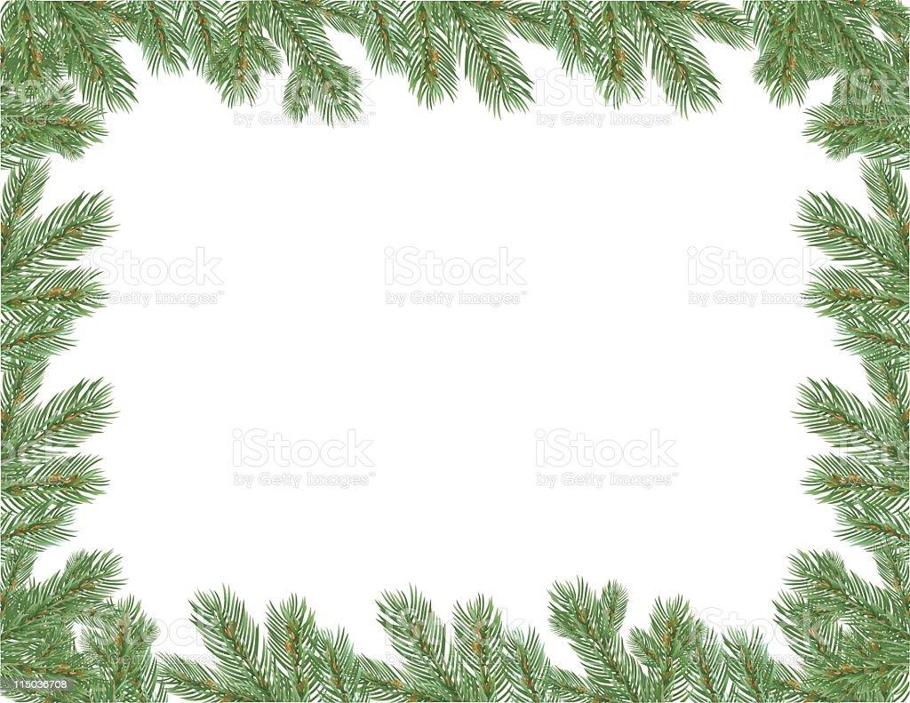 Evergreen Frame vector art illustration