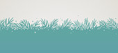Evergreen pine tree silhouette background.