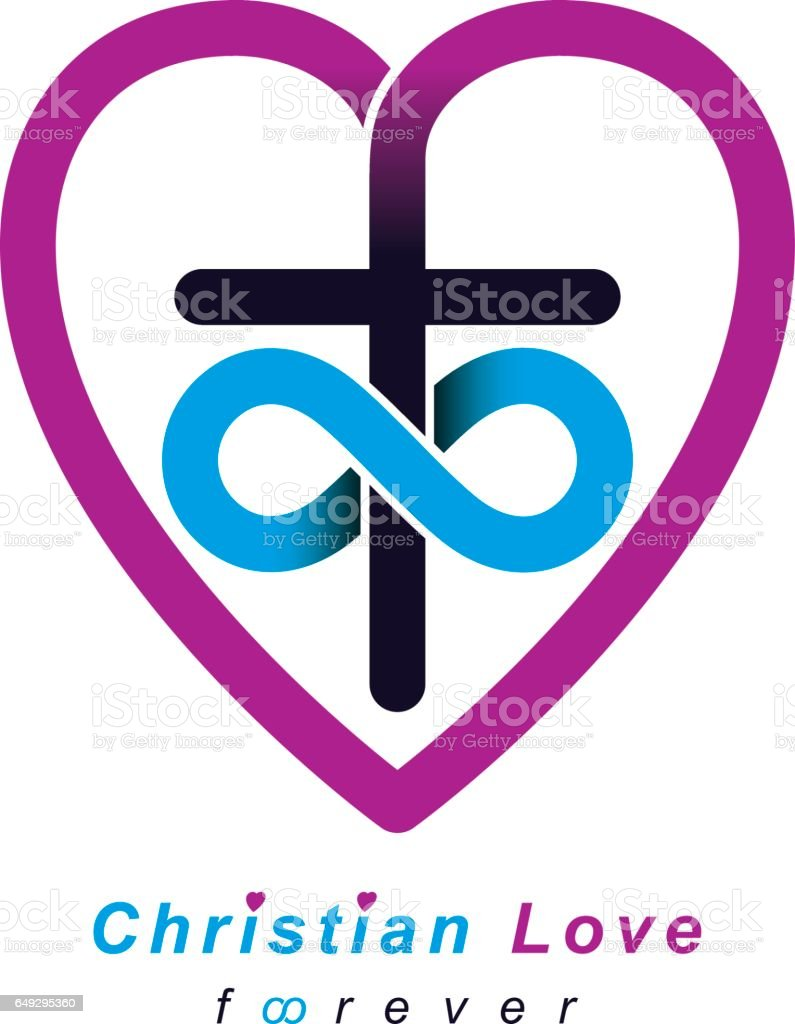 Everlasting christian love and true belief in god vector creative everlasting christian love and true belief in god vector creative symbol design combined with infinity buycottarizona Gallery