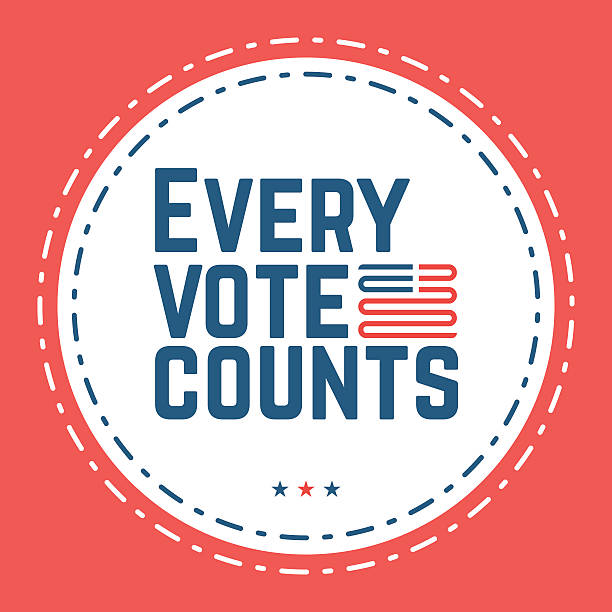 Every vote counts. Typographic quote about the importance of vot – Vektorgrafik