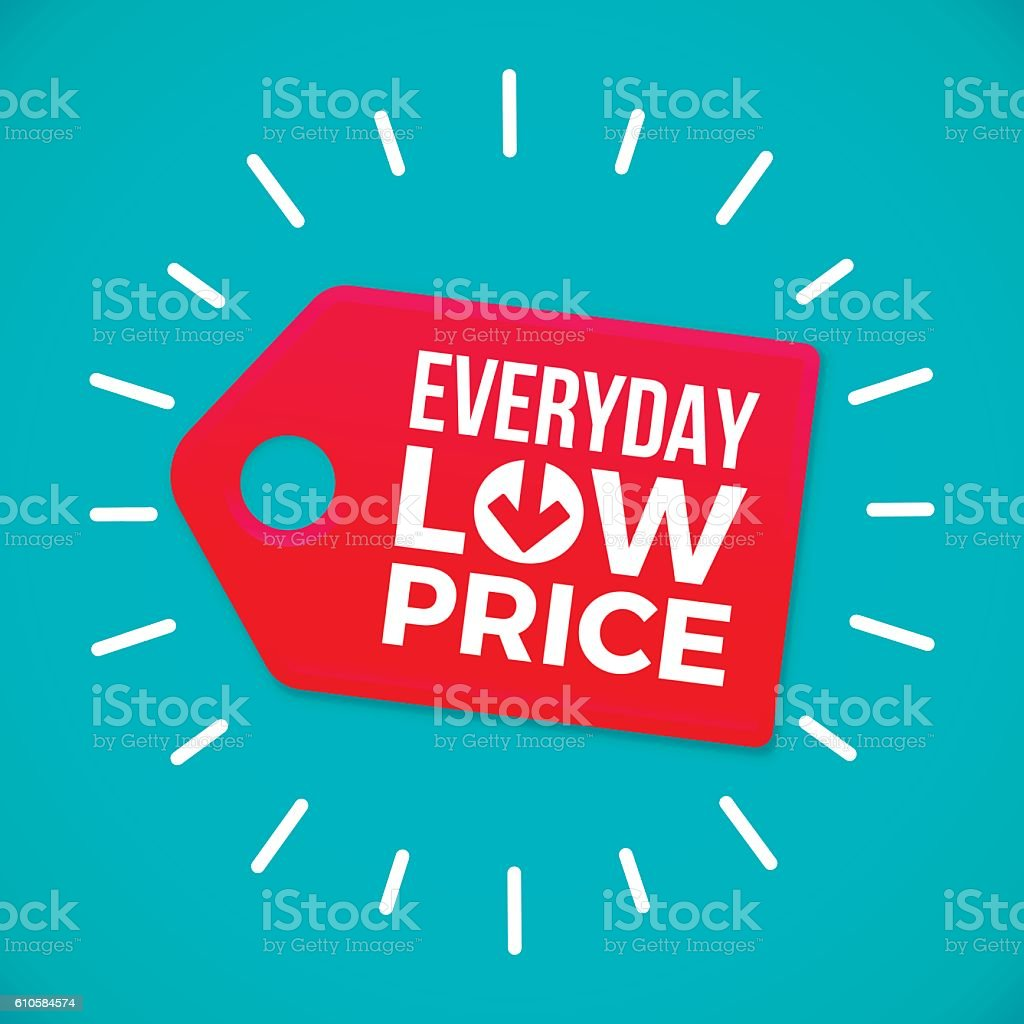 Everyday Low Price Sale Tag