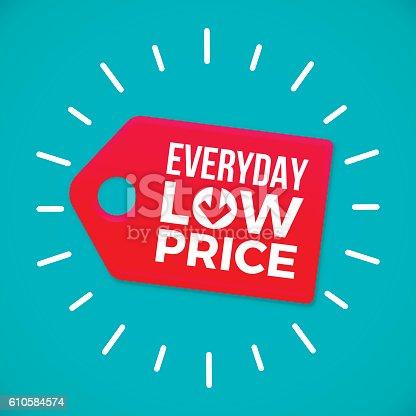 istock Everyday Low Price Sale Tag 610584574