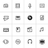 Everyday Media Icons — Inky Series