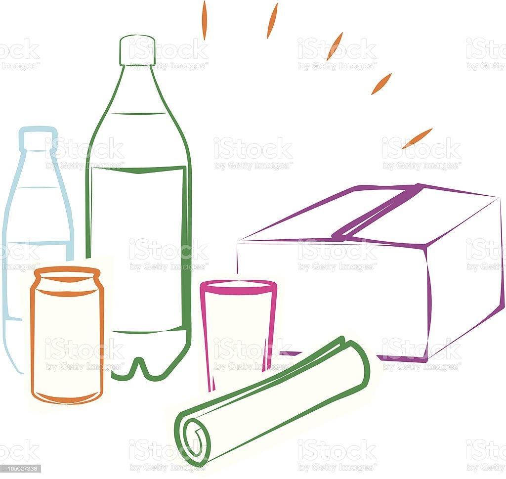Everyday objets. royalty-free stock vector art